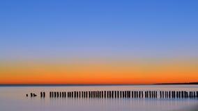 La alba el mar Foto de archivo libre de regalías