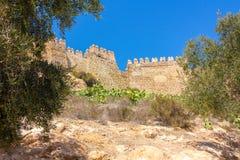 La Alcazaba e pareti di Cerro de San Cristobal, Almeria Spa Fotografia Stock