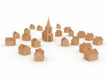 La aldea ilustración del vector