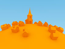 La aldea stock de ilustración