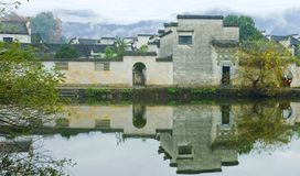 La aldea antigua llamó a Hong Cun, China Imagenes de archivo