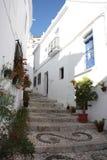 La aldea camina (Frigiliana, España) Imagen de archivo libre de regalías