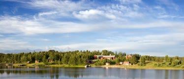 La aldea de Jackvik en Suecia norteña Fotos de archivo libres de regalías