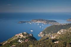 La aldea de la cumbre de Eze en el d'Azur del corral Fotos de archivo