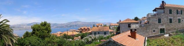 La aldea de Postira en la isla de Brac Foto de archivo libre de regalías