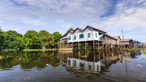 La aldea en agua Imagen de archivo libre de regalías