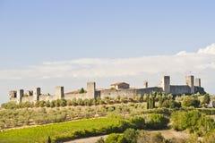 La aldea medieval de Monteriggioni Foto de archivo