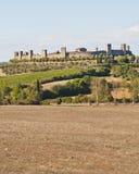 La aldea medieval de Monteriggioni Foto de archivo libre de regalías