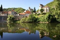 La aldea refleja Fotografía de archivo
