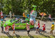 La alegría de la caravana de la publicidad - Tour de France 2017 Imagenes de archivo