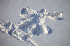 La alegría de la nieve del día de la Navidad Foto de archivo libre de regalías