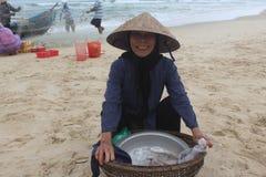 La alegría de la pesca Fotos de archivo
