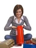La alegría de regalos Foto de archivo libre de regalías
