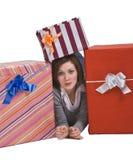 La alegría de regalos Fotografía de archivo libre de regalías