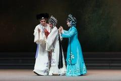 """La alegría del acto del parto- octavo que consigue a un niño-Kunqu recién nacido Opera""""Madame el  blanco de Snake†Imágenes de archivo libres de regalías"""
