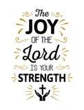 La alegría del señor es su fuerza stock de ilustración