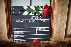 La aleta de la película con subió imagen de archivo