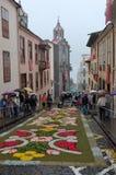 La alfombra de flores La Orotava Tenerife Imagen de archivo libre de regalías