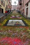 La alfombra de flores La Orotava Tenerife Imagen de archivo