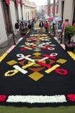 La alfombra de flores La Orotava Tenerife Foto de archivo