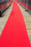 La alfombra roja foto de archivo
