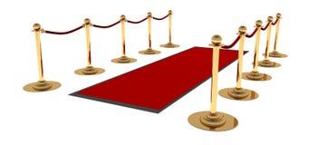 La alfombra roja Fotografía de archivo libre de regalías