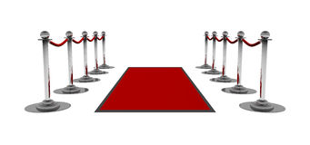 La alfombra roja Fotografía de archivo