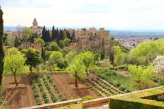 La Alhambra royalty-vrije stock afbeeldingen