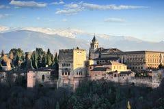 La Alhambra. Of Granada and Sierra Nevada Royalty Free Stock Photo