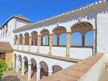 La Alhambra de Granada: Santa Maria church Stock Photos