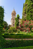 Tower of St. Mary Church, Alhambra of Granada/ Spain. 17th centu Stock Photo