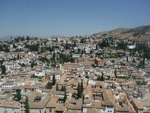 La Alhambra del desde di vista di Granada fotografia stock libera da diritti