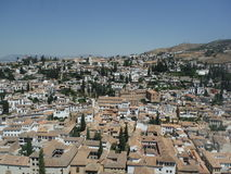 La Alhambra för Granada utsiktdesde Royaltyfri Foto