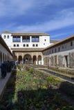 La Alhambra view of the gardens royalty free stock photos