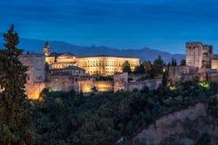 La Alhambra, Granada, España Royaltyfri Bild