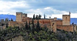 La Alhambra in Granada, Spain. A view of La Alhambra in Granada, Spain stock photography