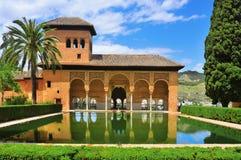 La Alhambra in Granada, Spain. Partal Palace in La Alhambra in Granada, Spain stock image