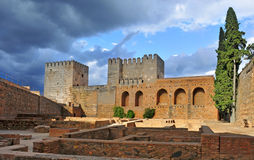 La Alhambra in Granada, Spain Royalty Free Stock Photography