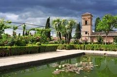 La Alhambra in Granada, Spain royalty free stock images