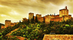 La Alhambra in Granada, Spain Stock Photography