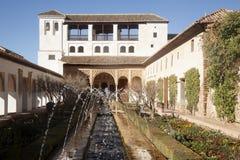 La Alhambra i Granada Royaltyfri Foto