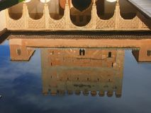 La Alhambra reflection pond Royalty Free Stock Photography