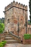 La Alhambra, Torre de los Picos, Granada, Andalusia Royaltyfri Fotografi