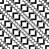 la almohada blanco y negro de la moda del inconformista de la geometría ajusta el modelo Foto de archivo