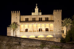 La Almudaina Palace in Palma de Mallorca Royalty Free Stock Photo