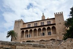 La Almudaina Palace in Palma de Mallorca Royalty Free Stock Photos