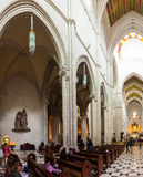 La Almudena cathedral - main church of Spain Stock Photo