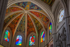 La Almudena Interior de Catedral De III Photographie stock