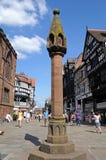 La alta cruz, Chester Fotos de archivo