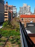 La alta línea parque en New York City Imagenes de archivo